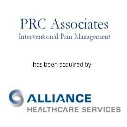 PRC Associated Interventional Pain Management has been acquired by alliance healthcare services