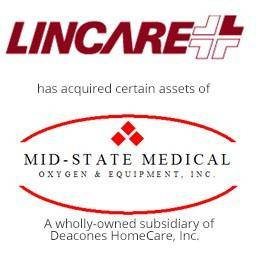 Lincare has acquired certain assets of mid-state medical equipment, a wholly owned subsidiary of deacones homecare.